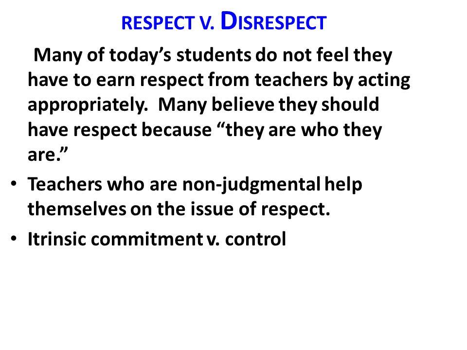 RESPECT V.
