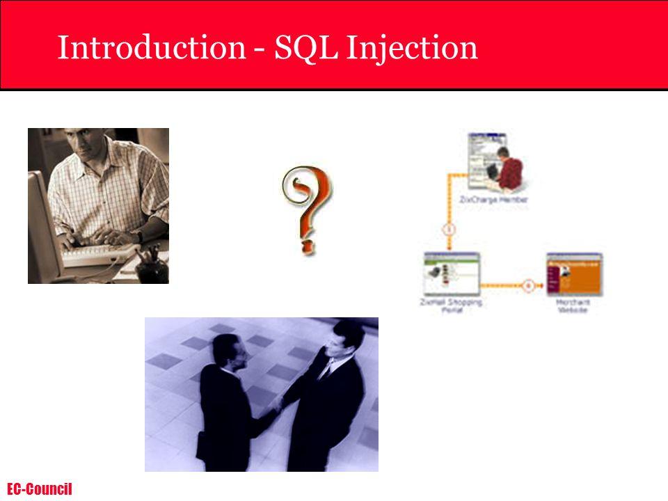 EC-Council Introduction - SQL Injection