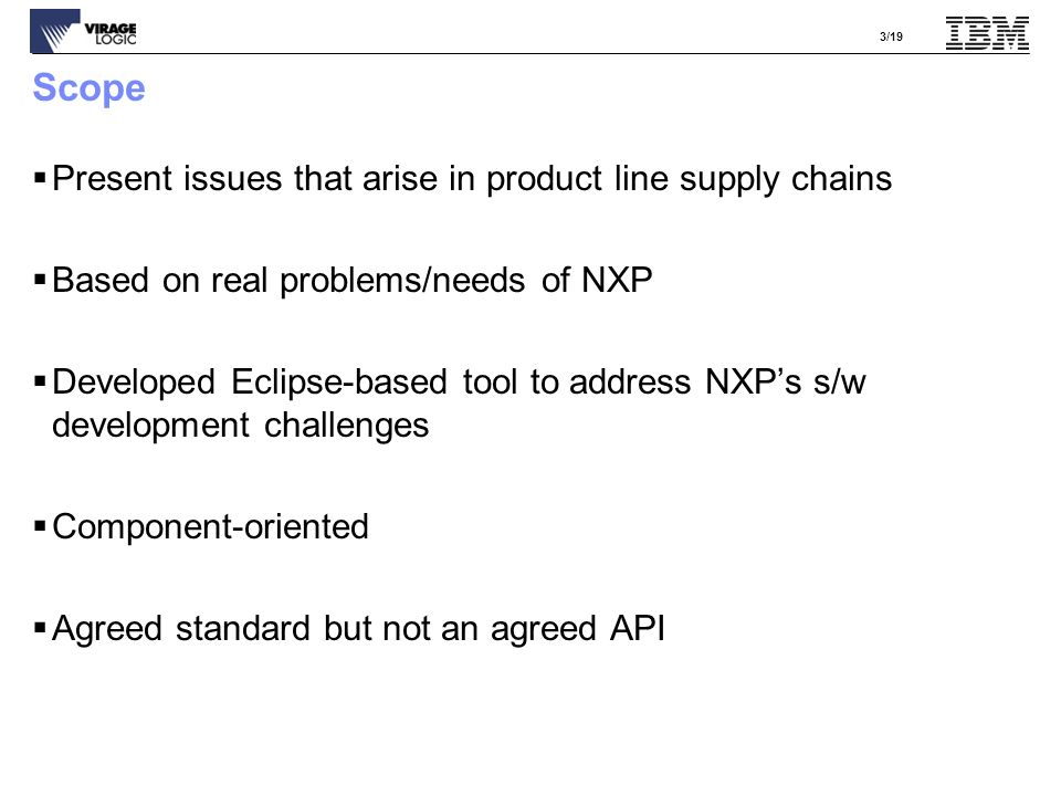4/19 Simple Case: No overlapping functionality