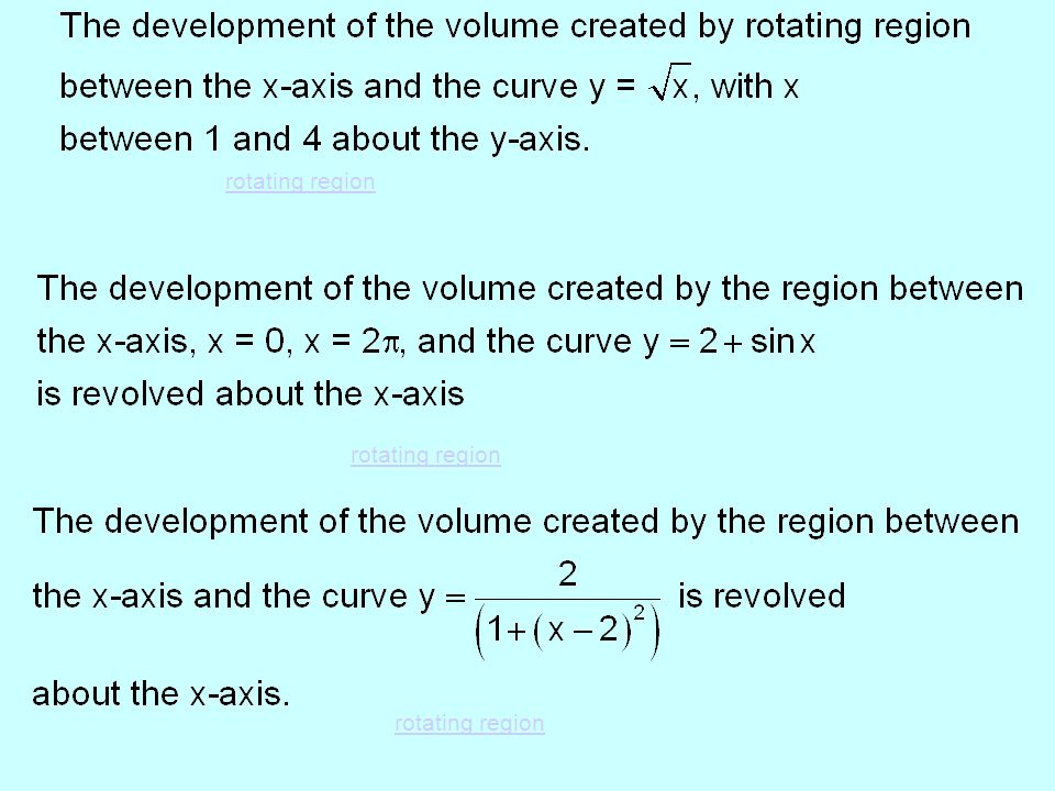rotating region