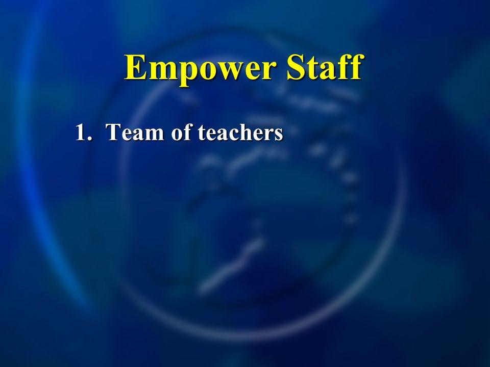 Empower Staff 1. Team of teachers