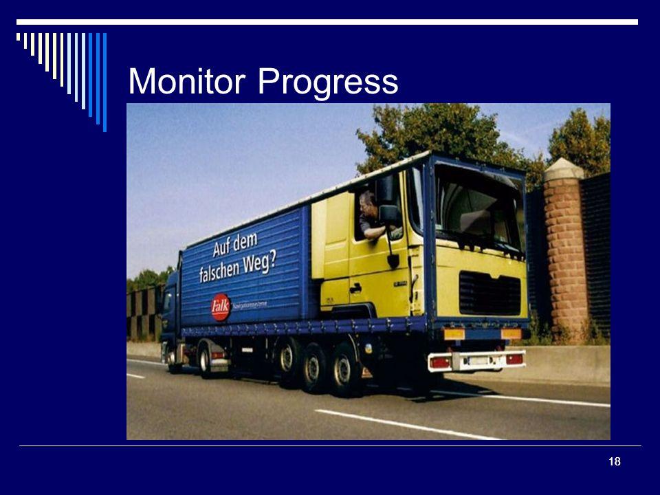 18 Monitor Progress