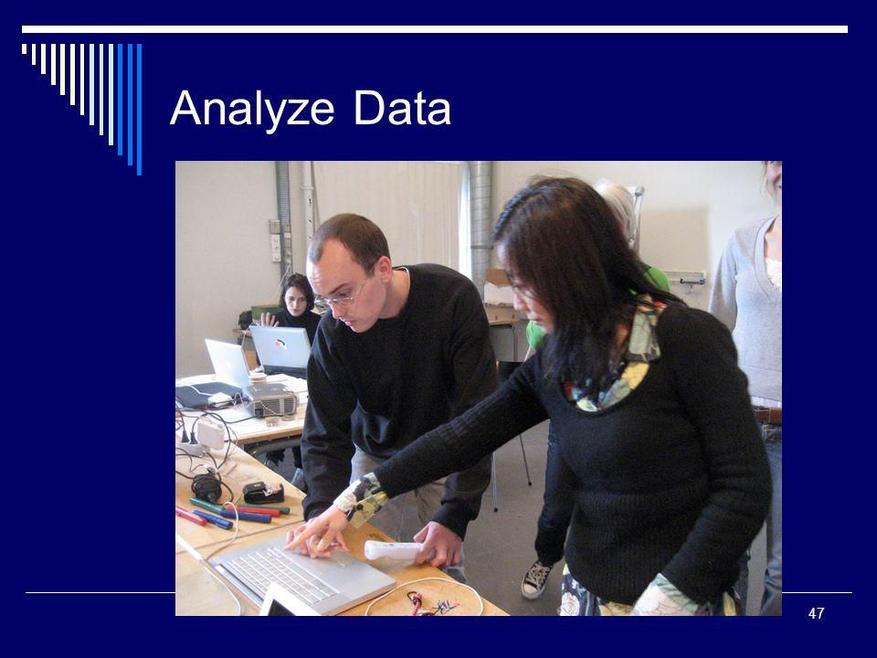 47 Analyze Data