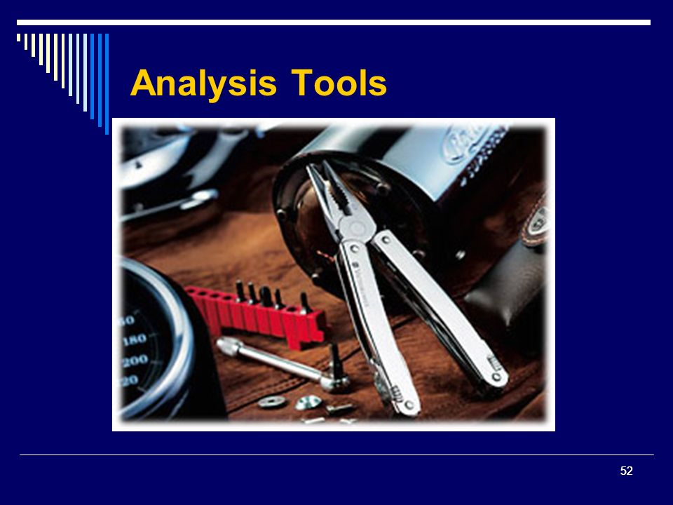 52 Analysis Tools