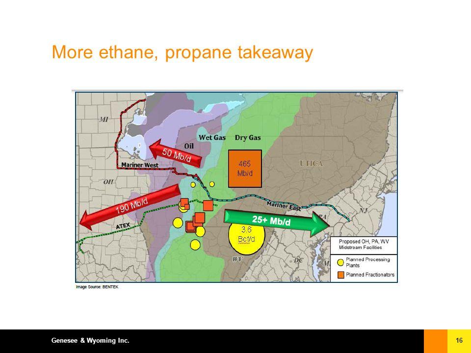 16Genesee & Wyoming Inc. More ethane, propane takeaway