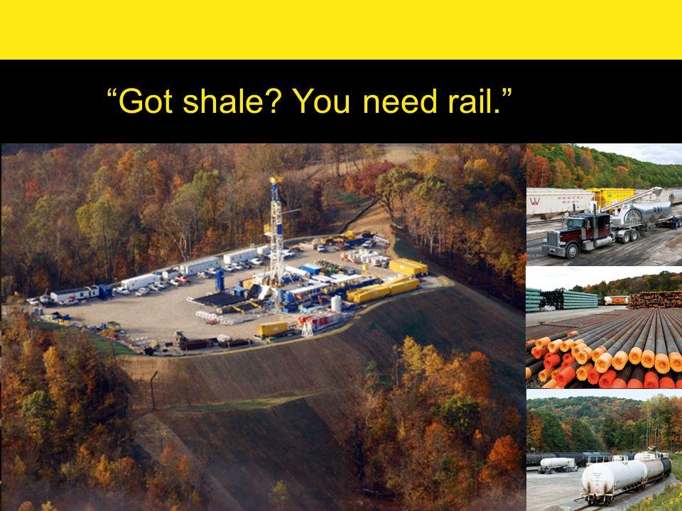 Got shale? You need rail.