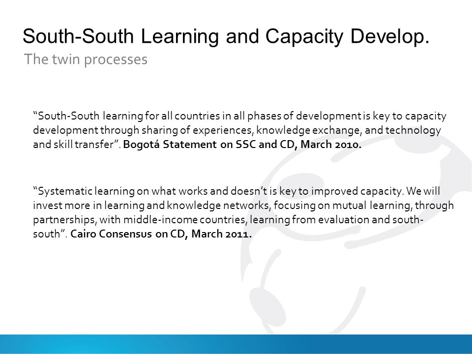 South-South Learning and Capacity Develop.