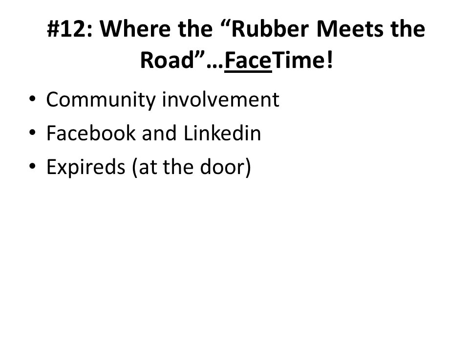 #12: Where the Rubber Meets the Road…FaceTime.