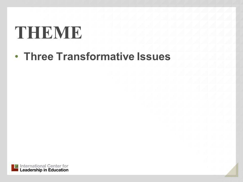 THEME Three Transformative Issues
