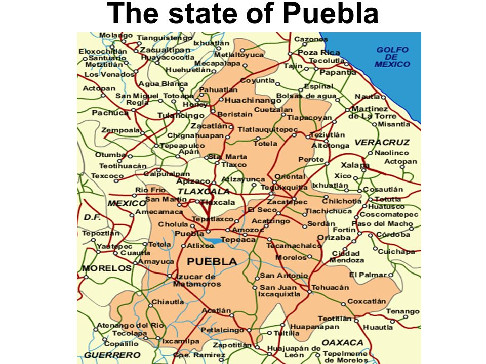 The state of Puebla