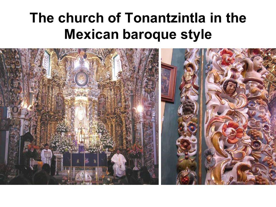 The church of Tonantzintla in the Mexican baroque style