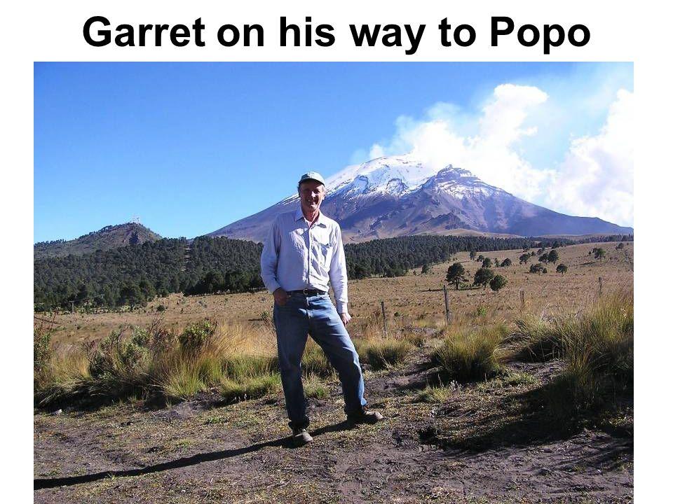 Garret on his way to Popo