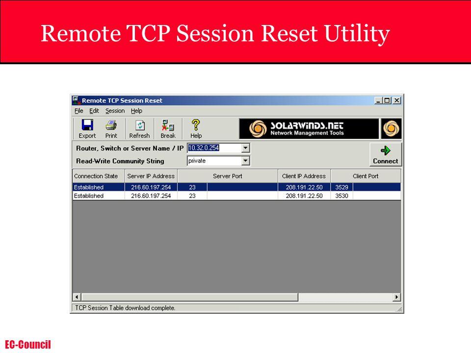 EC-Council Remote TCP Session Reset Utility