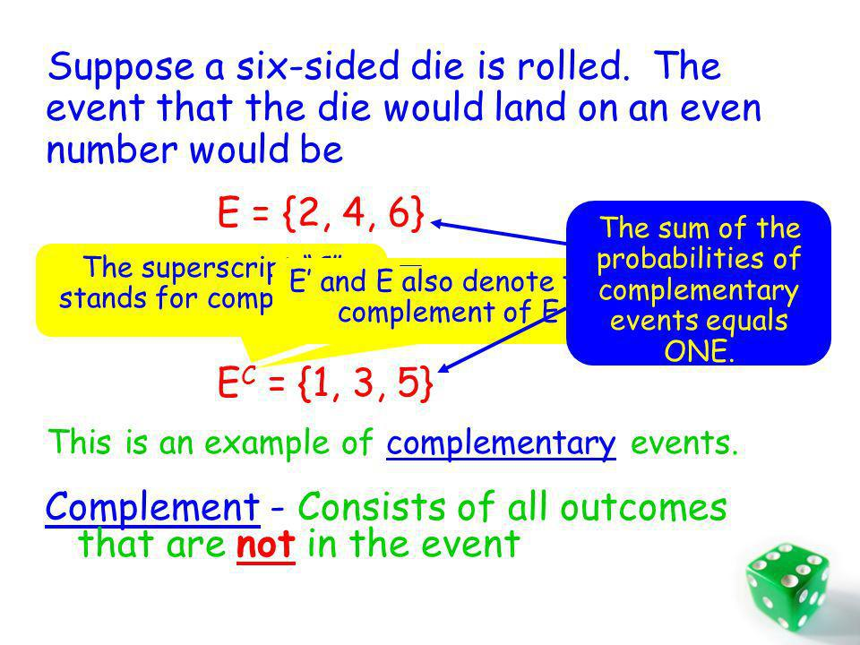 Independent Events Two events are independent if knowing that one will occur (or has occurred) does not change the probability that the other occurs.