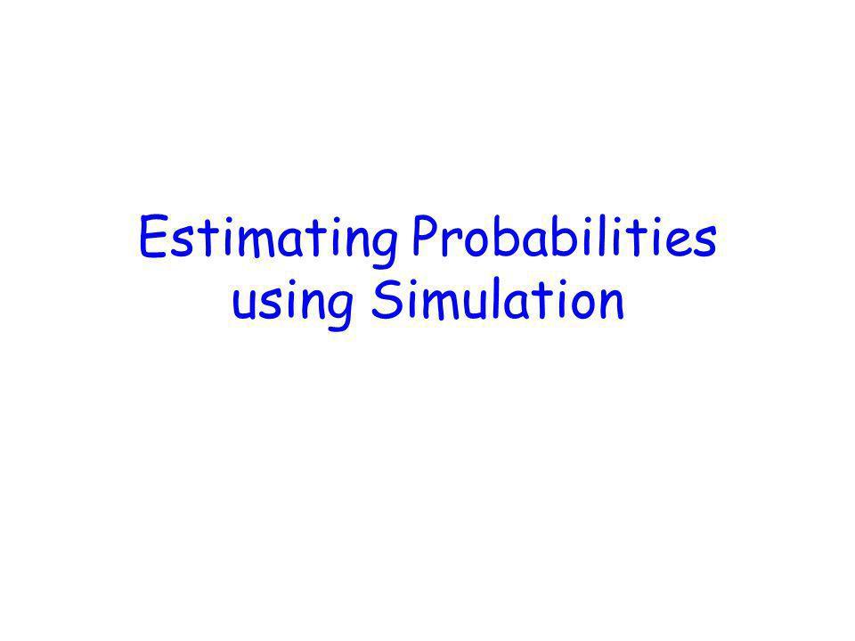 Estimating Probabilities using Simulation