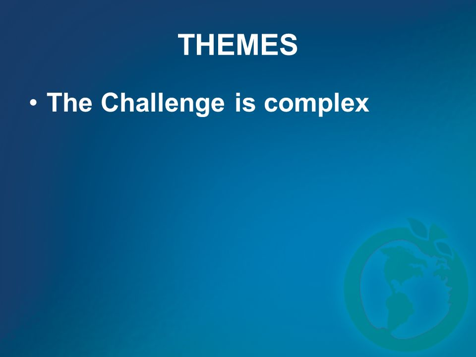 THEMES The Challenge is complex