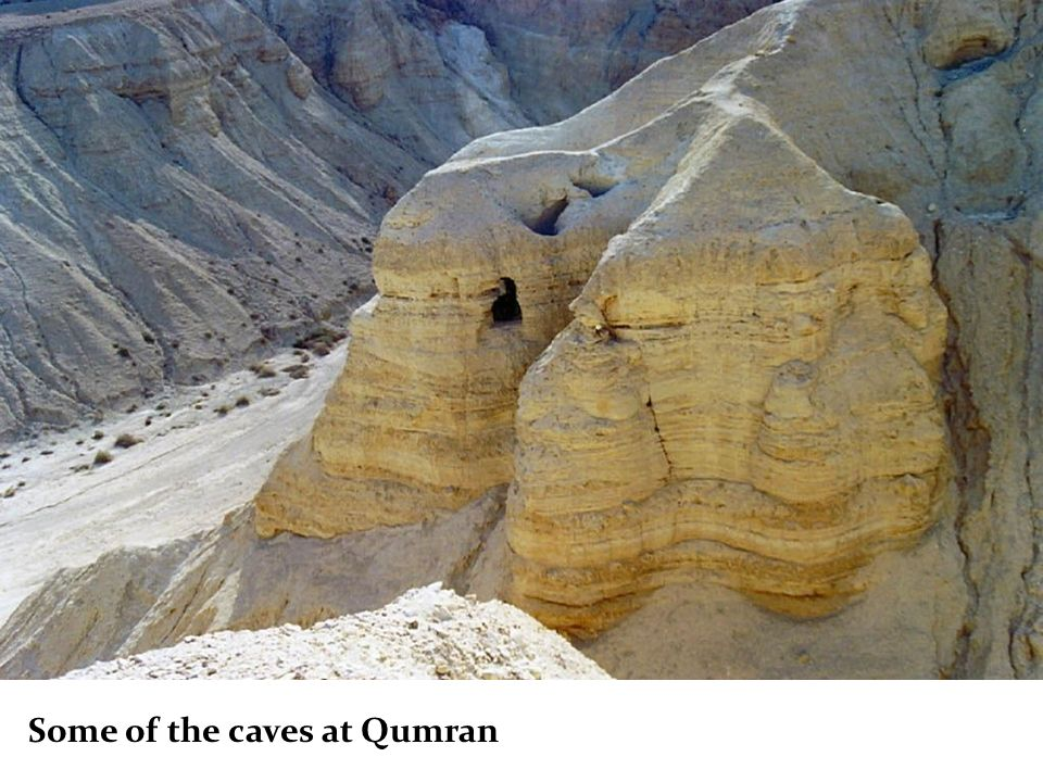 Some of the caves at Qumran