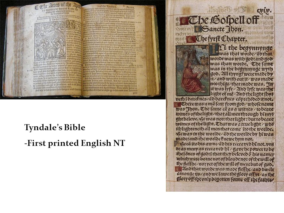 Tyndales Bible -First printed English NT