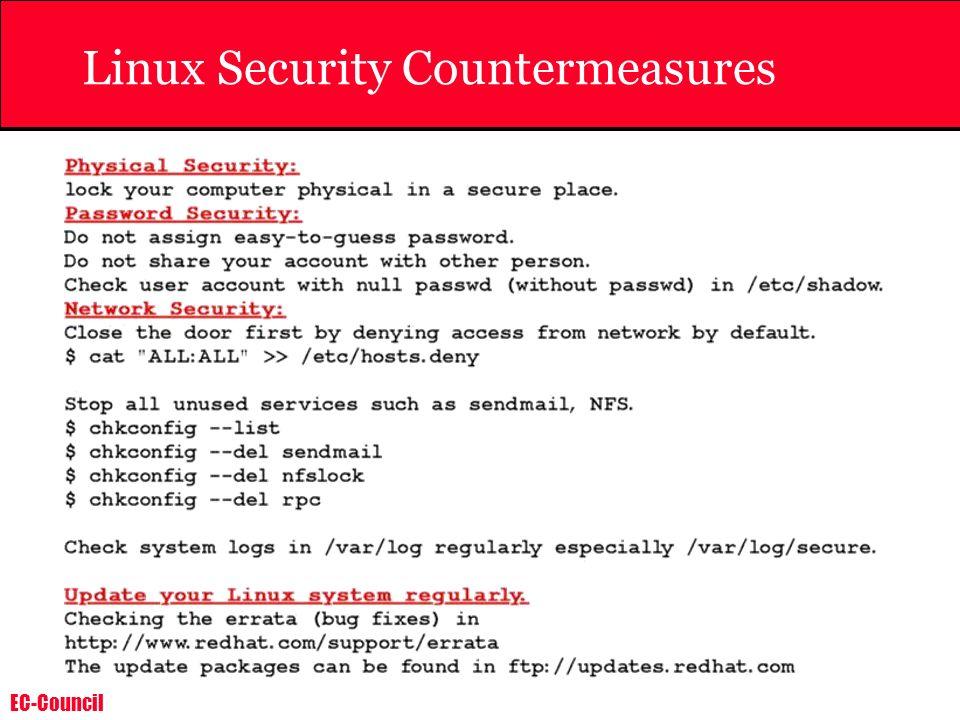 EC-Council Linux Security Countermeasures