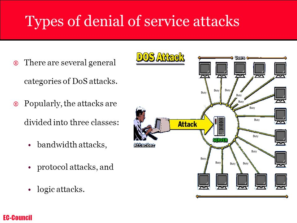 EC-Council Use Scanning Tools There are several tools available which could detect whether a system is being used as a DDOS server.
