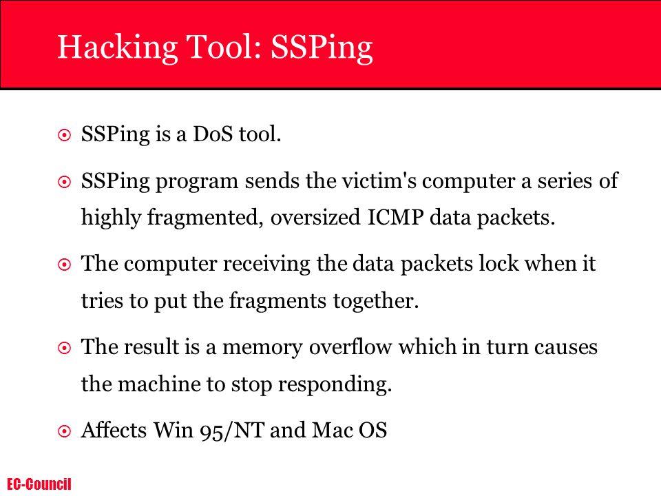 EC-Council Hacking Tool: Trinoo Trinoo is a DDOS attack tool.