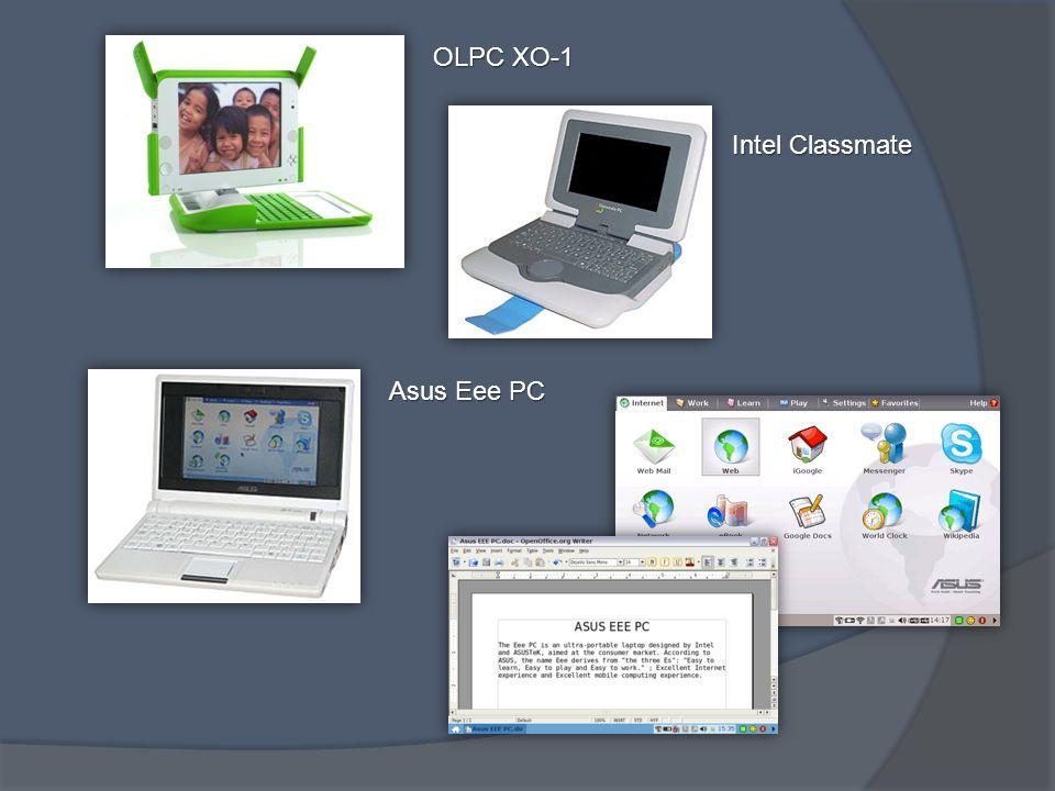 OLPC XO-1 Intel Classmate Asus Eee PC
