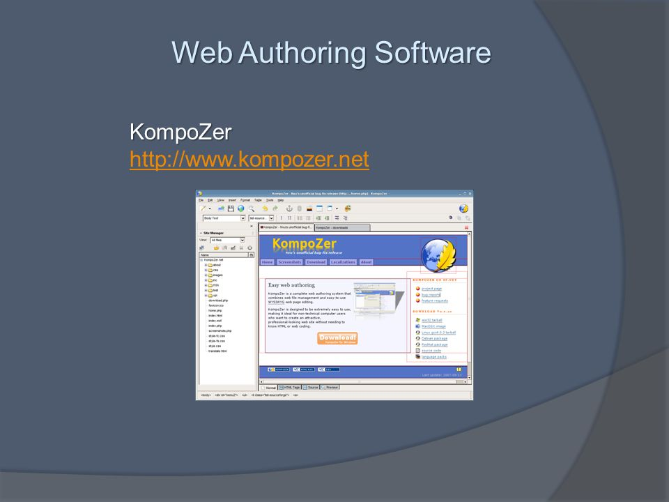 Web Authoring Software KompoZer