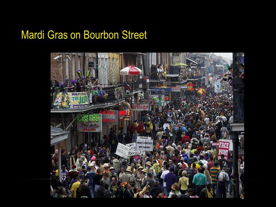 9 Mardi Gras on Bourbon Street 9