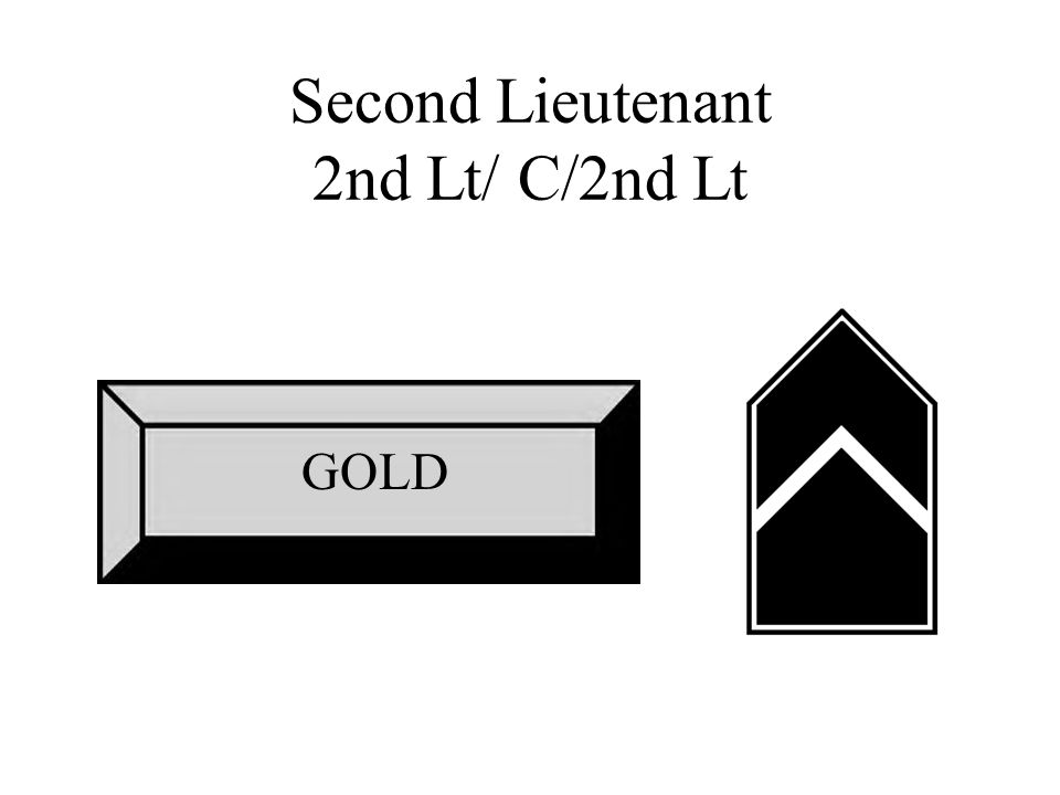 Second Lieutenant 2nd Lt/ C/2nd Lt GOLD