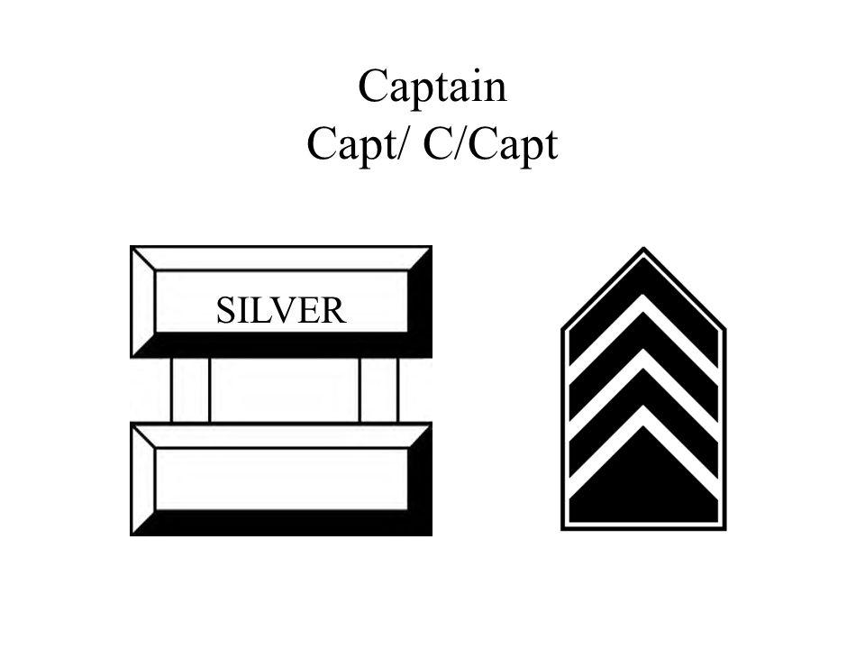 Captain Capt/ C/Capt SILVER