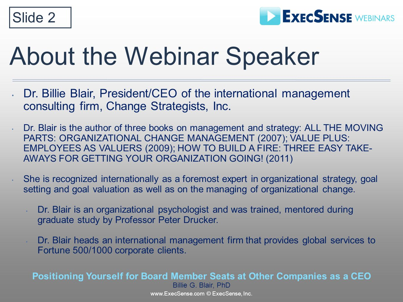 About the Webinar Speaker Dr.