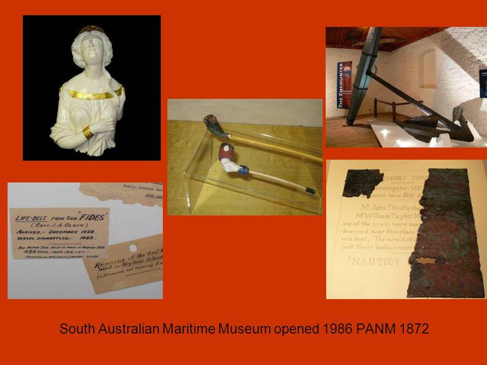 South Australian Maritime Museum opened 1986 PANM 1872