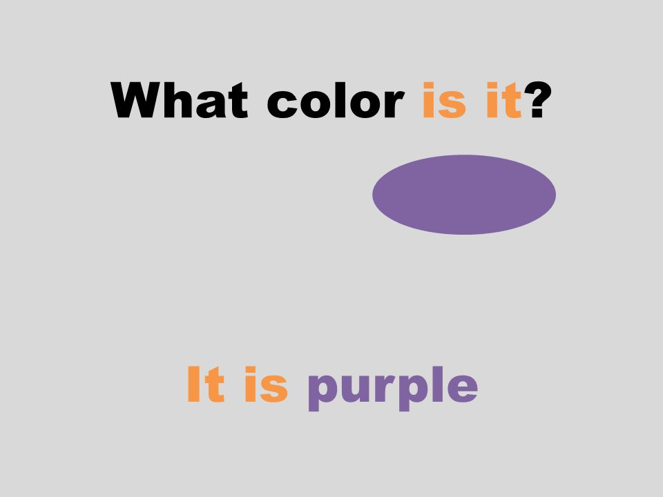 What color is it? It is purple