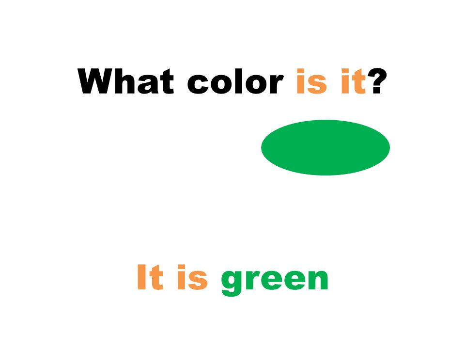 What color is it? It is green