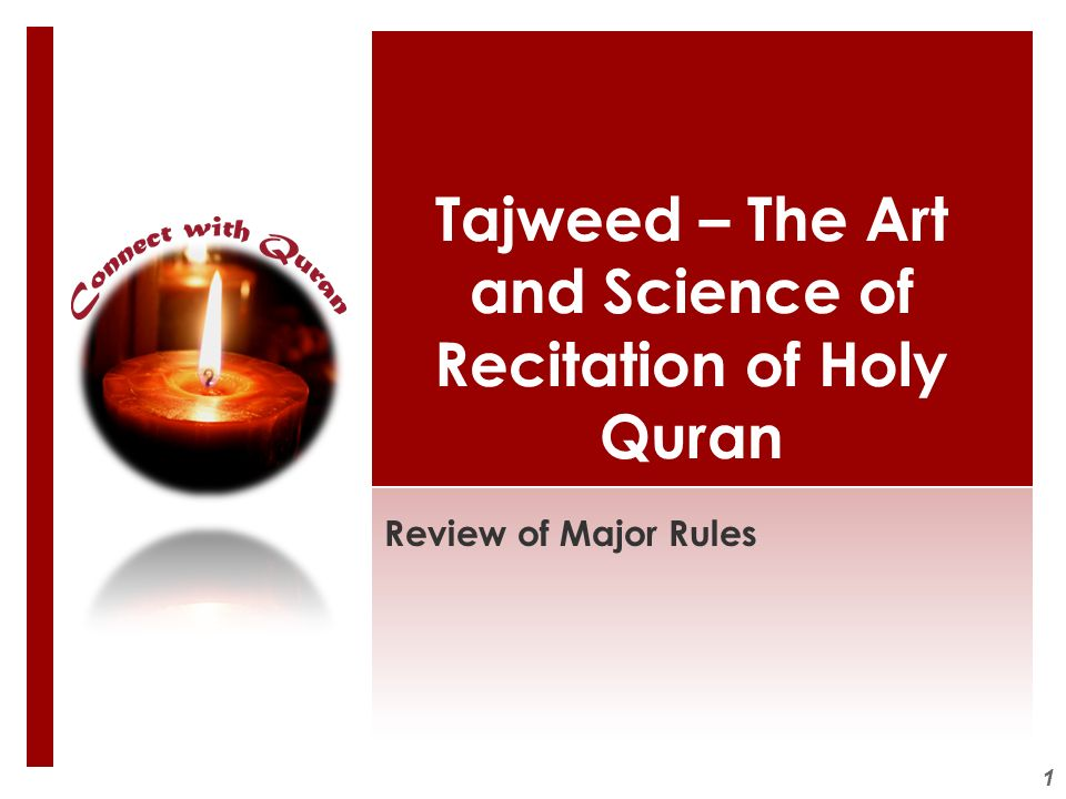 1 Tajweed – The Art and Science of Recitation of Holy Quran Review of Major Rules