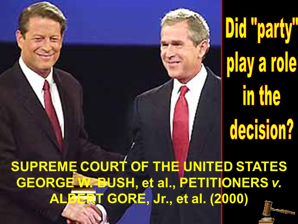 SUPREME COURT OF THE UNITED STATES GEORGE W. BUSH, et al., PETITIONERS v.