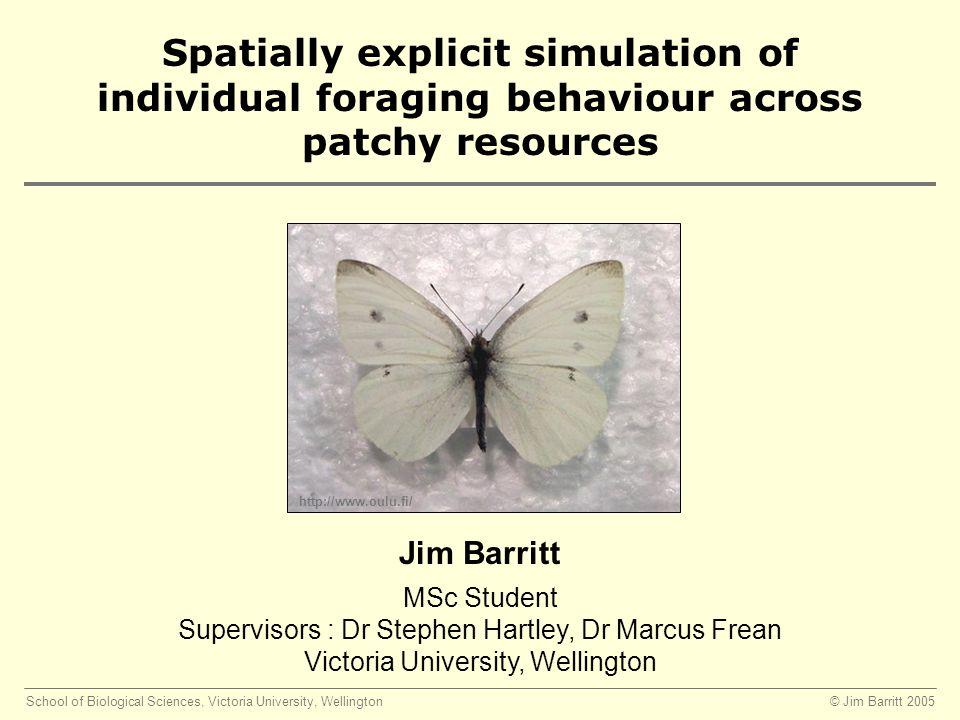 © Jim Barritt 2005School of Biological Sciences, Victoria University, Wellington Density and Isolation are scale dependant 10 m 1 plant 20 plants, density = 0.2 plants / m 2