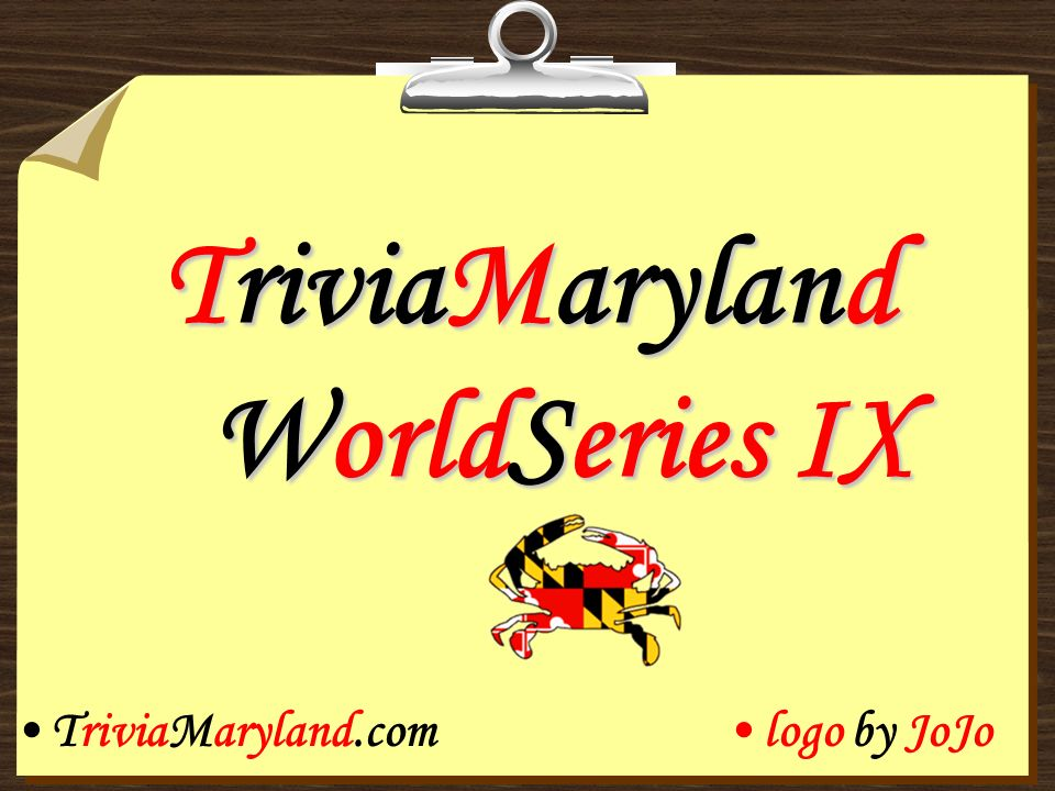 TriviaMaryland WorldSeries IX TriviaMaryland.comlogo by JoJo