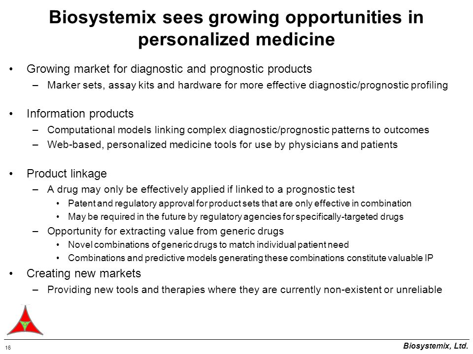 Biosystemix, Ltd.