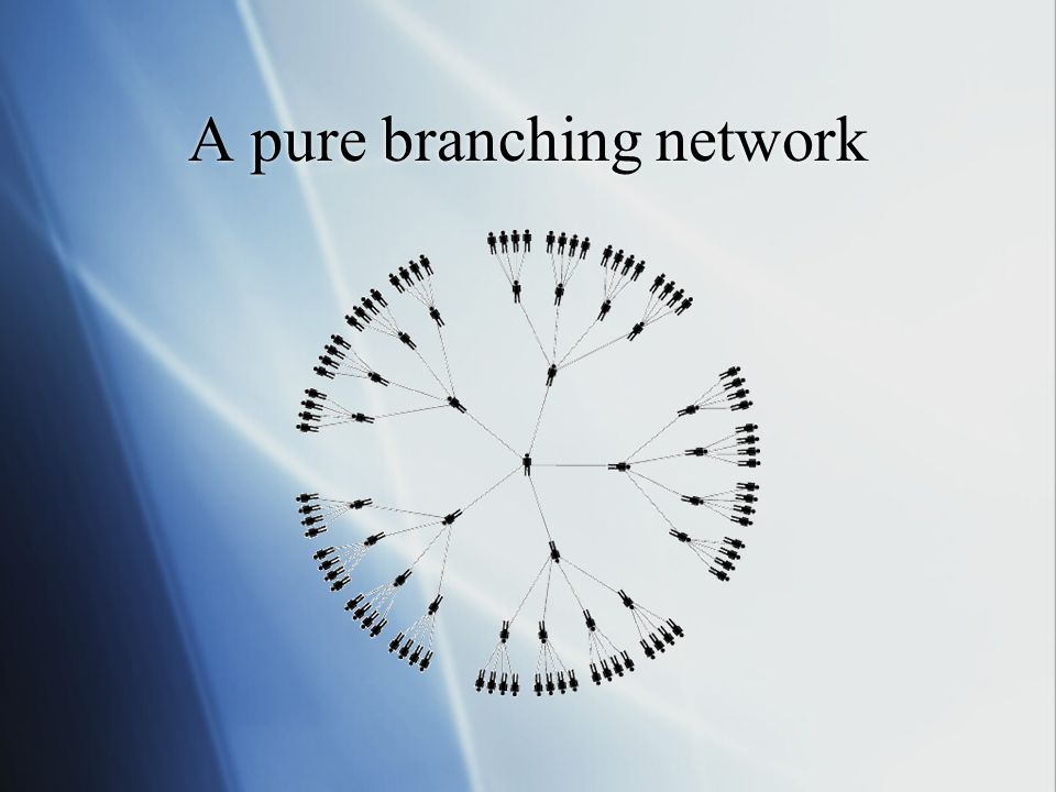 A pure branching network
