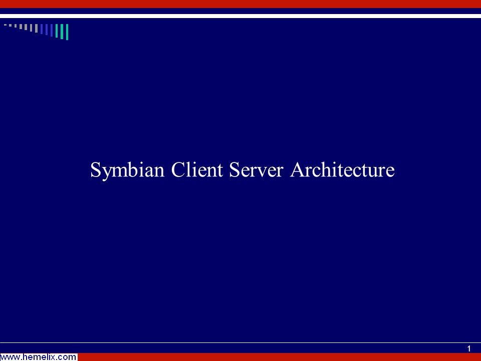 1 Symbian Client Server Architecture
