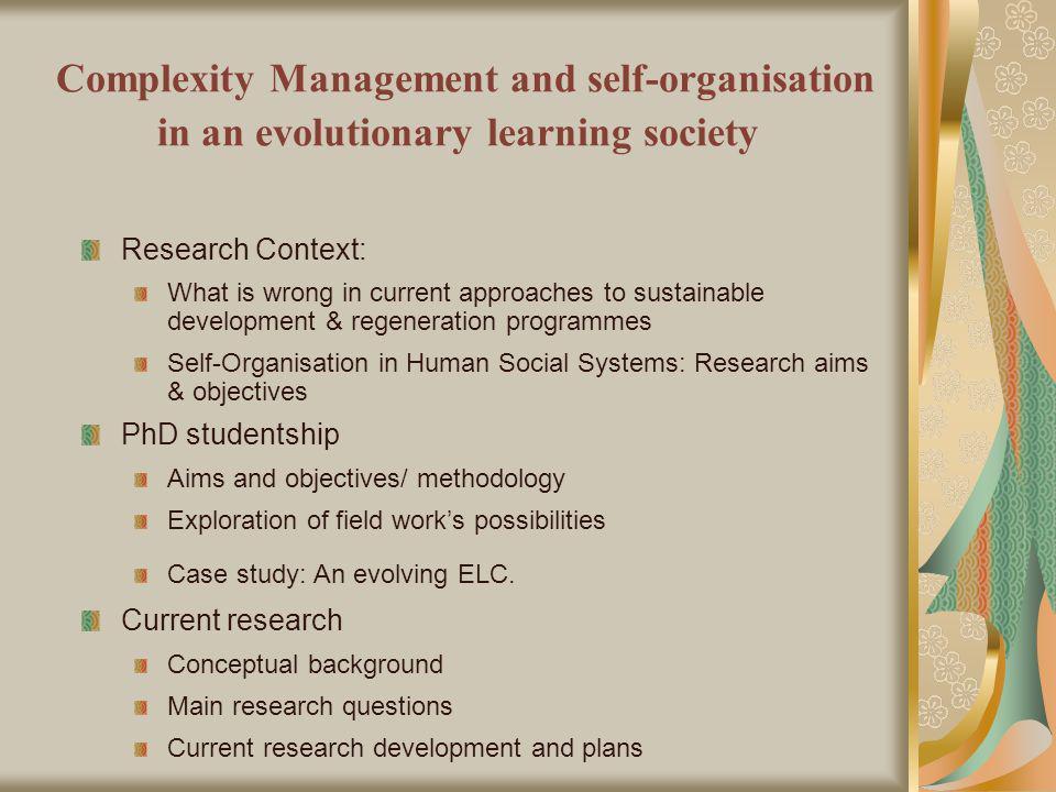 Communitys organisation Cooperative organisation: Based on consensus decision-making.
