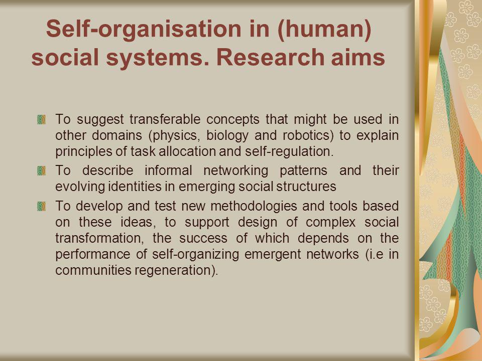 Organisations: A Complexity Perspective Organisations: Learning networks requiring access to knowledge resources to convert them into tangible products (Powell et al, 1996) Basis of network cooperation: the need for resource pooling and the need to respond to threat (Axelrod, 1984).