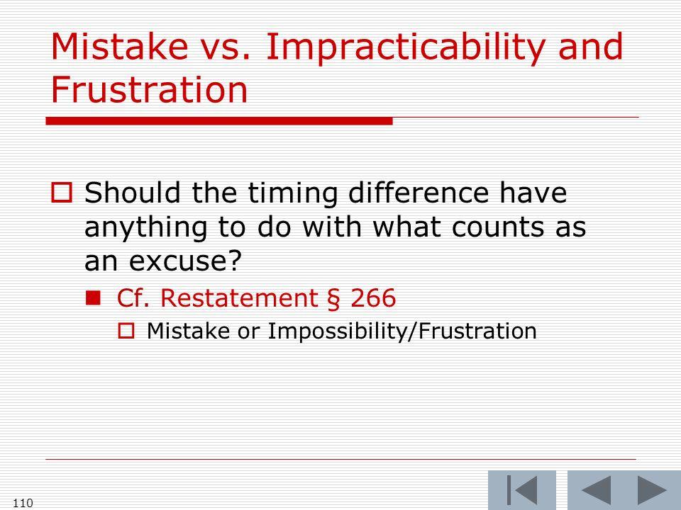 Mistake vs.
