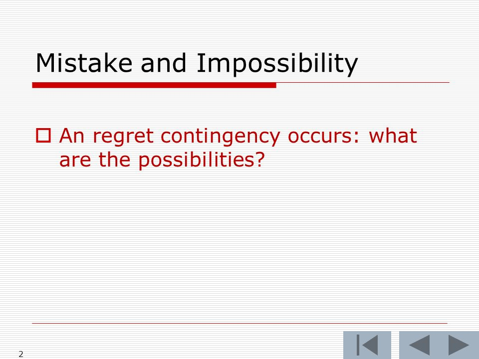 When is a mistake a mistake What was the mistake? 103