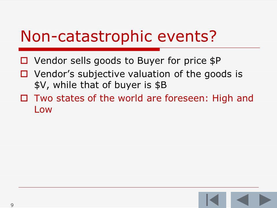 Non-catastrophic events.
