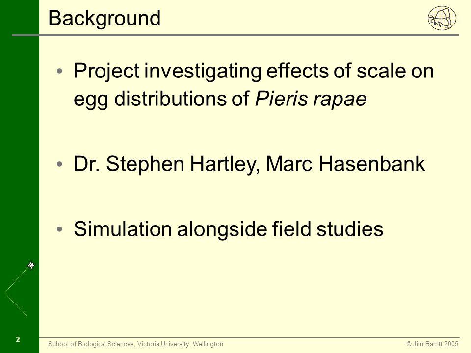 © Jim Barritt 2005School of Biological Sciences, Victoria University, Wellington 22 Simulation In Action - Step 11