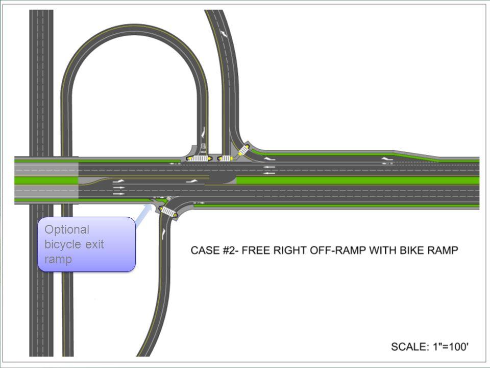 Optional bicycle exit ramp