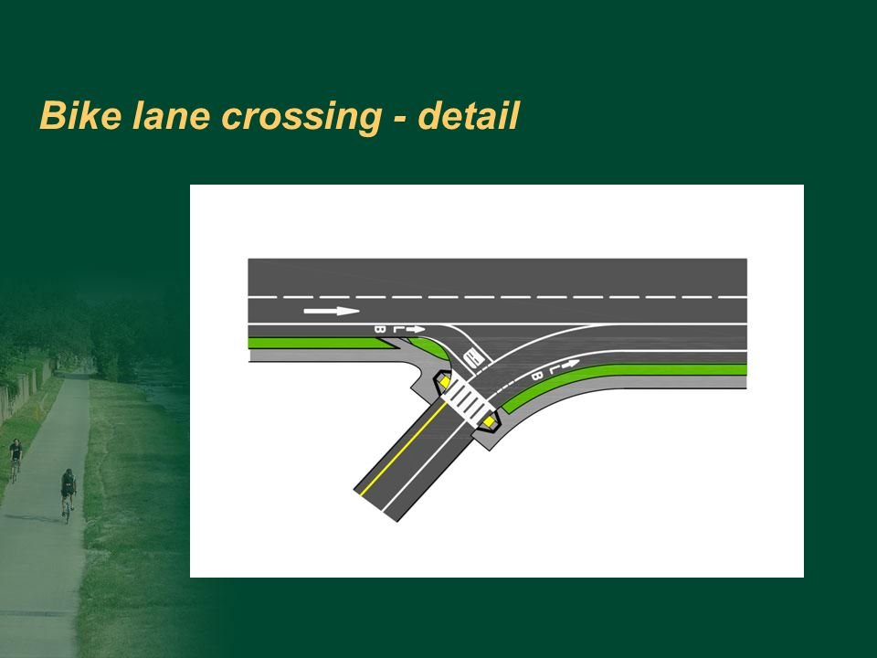 Bike lane crossing - detail