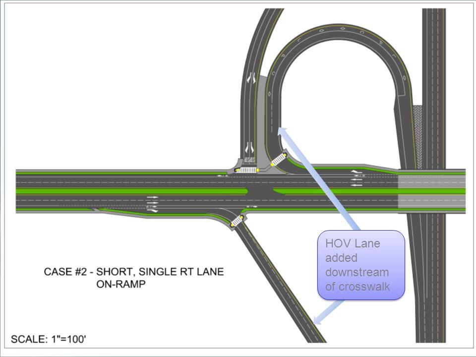 HOV Lane added downstream of crosswalk